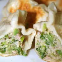 Pan-Fried Pork and Chive Dumplings © Angela Gunder
