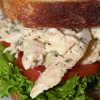 Chicken Salad with Tarragon and Apples  Photo by Angela Gunder