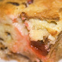 White Chocolate Cherry Bread Pudding  Photo by Angela Gunder