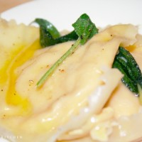 Simple Pumpkin Ravioli © Photo by Angela Gunder