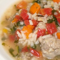 Italian Sausage and Rice Soup © Photo by Angela Gunder