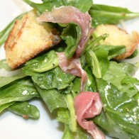 Arugula Salad with Truffle Vinaigrette © Photo by Angela Gunder