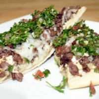 Middle Eastern Flatbread Pizza