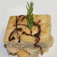 Herbed Caramelized Onion Focaccia