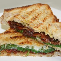 Italian BLT Panini with Pesto Mayo