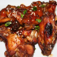 Kona Coffee Glazed Chicken Wings