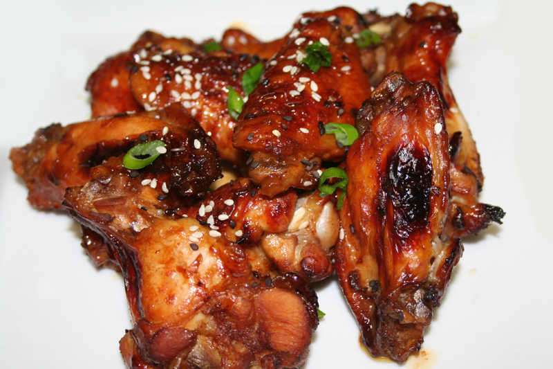 Cinco De Mayo Glazed Chicken Wings Recipe — Dishmaps