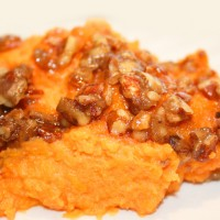 Whipped Sweet Potatoes with Pecan Crumble
