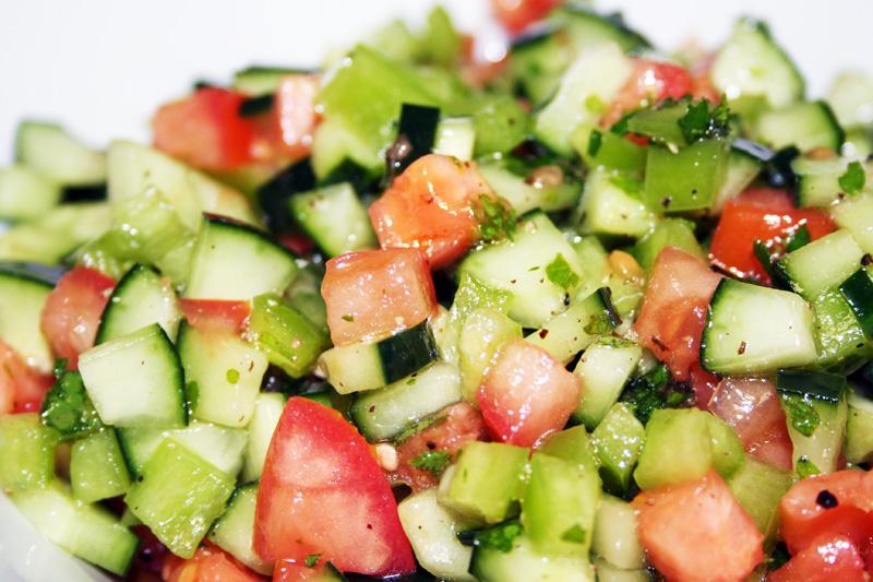 Israeli Cucumber Salad - Spice or Die