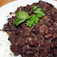 Cuban Black Beans and Rice © Photo by Angela Gunder of Spice or Die