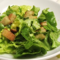 Bibb Lettuce Salad with French Lemon Tarragon Vinaigrette and Homemade Croutons