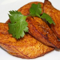 Fried Plantains with Cilantro Aioli