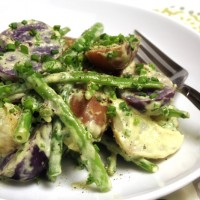 Potato Salad with Lemon Tarragon Aioli and Haricot Verts