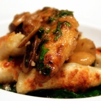 Chicken Marsala with Gnocchi and Spinach